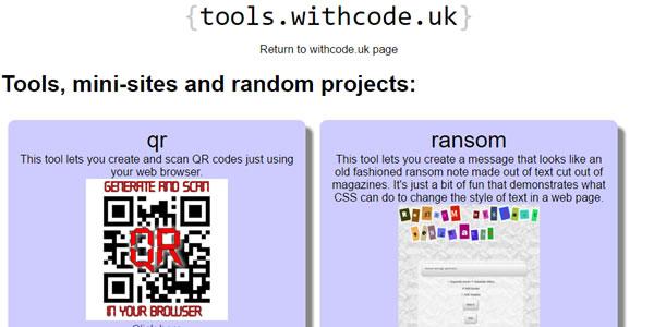 Tools, mini-sites and random projects