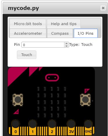 How to test the I/O pins one the micro:bit simulator