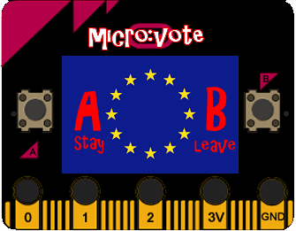 Hold your own EU referendum using a micro:bit