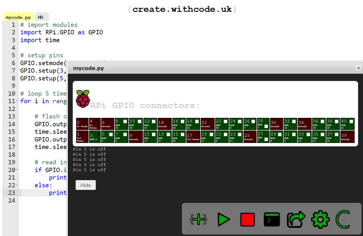 RPi GPIO python simulator