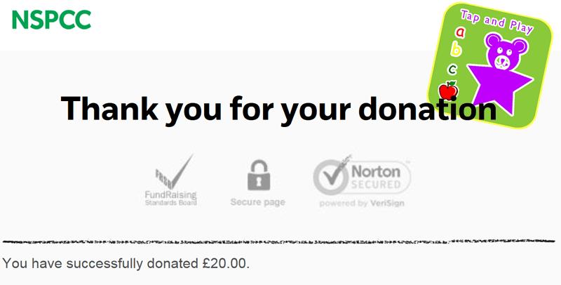 abc.tapandplay.uk raising money for NSPCC