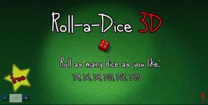 Free 3d dice roller app