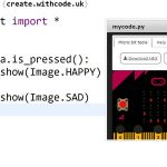 Write, run, debug and share python code for a BBC microbit
