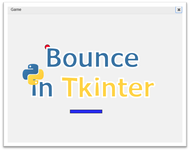 Bounce game: Online python tkinter simulator