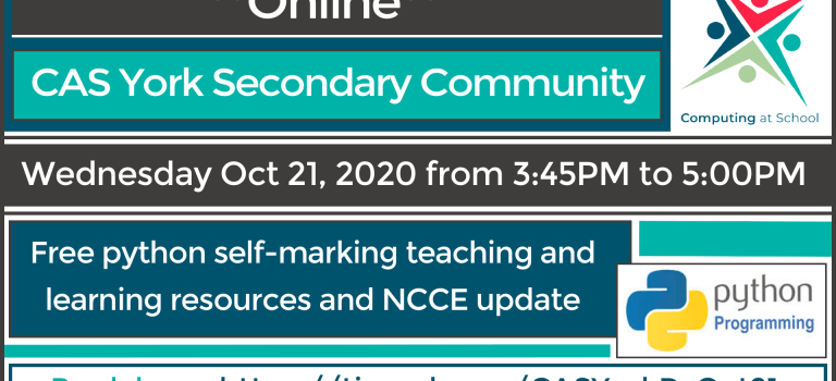 Free remote training and support for Computing teachers
